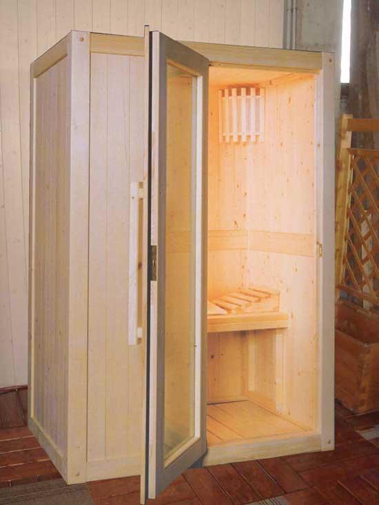 sauna 140x95 elite coibentata con sughero pressato