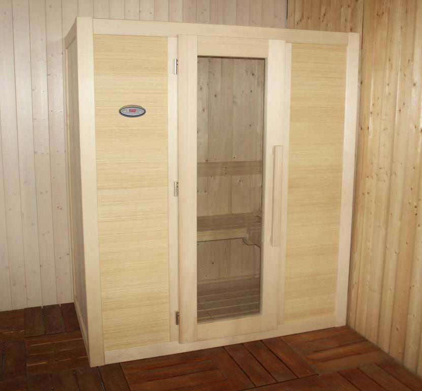 sauna elite plus 180x110 parete frontale in bamboo