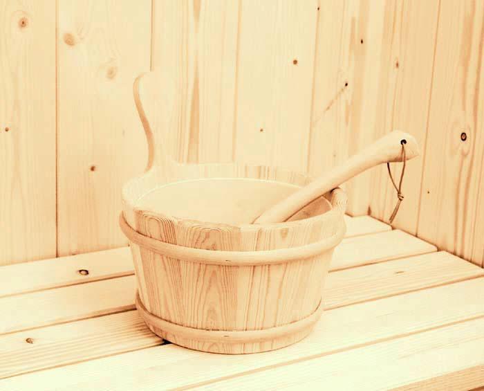 secchio sauna legno