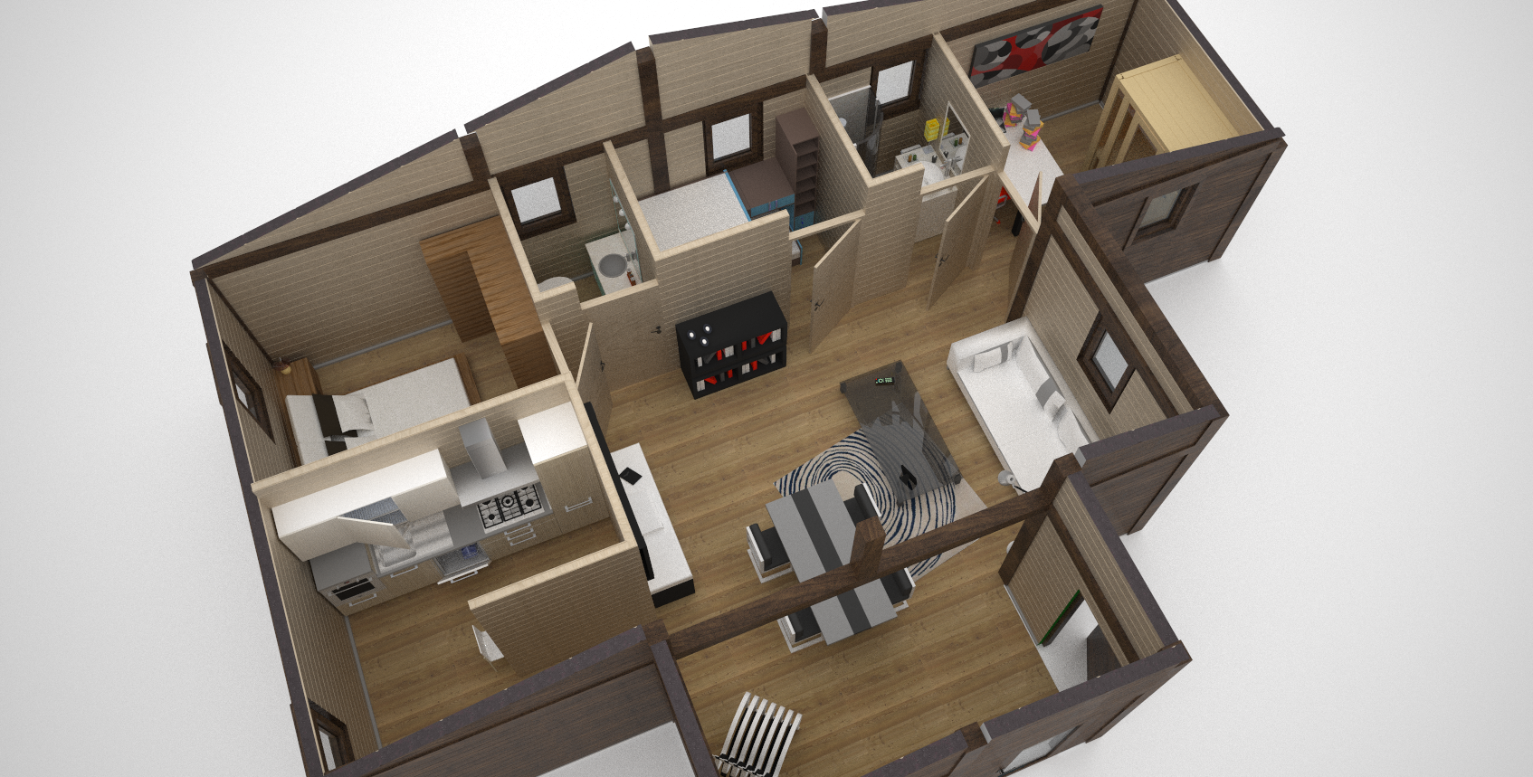 Interni Case Prefabbricate In Legno bungalow in legno - case abitabili in legno - edil legno
