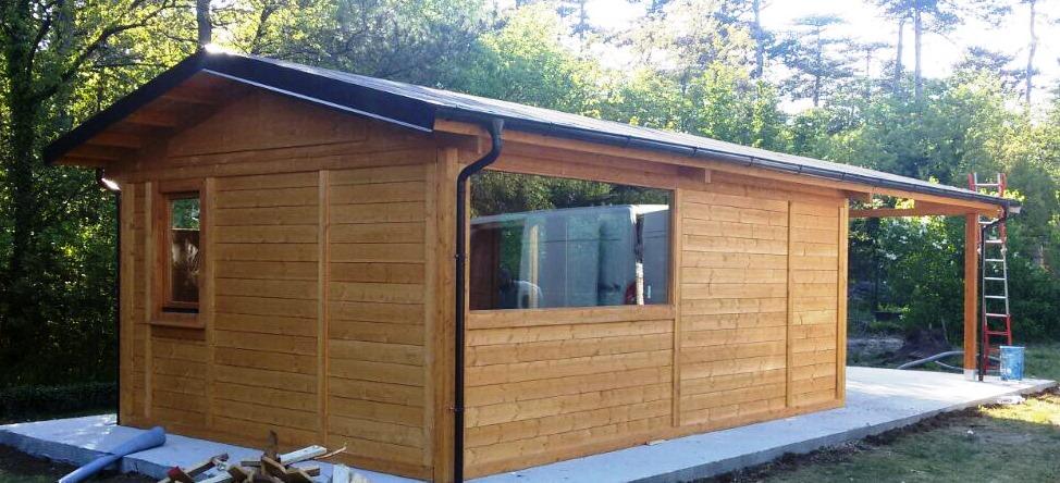 casa in legno 4x6 isolata