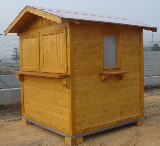 Chiosco a noleggio di legno