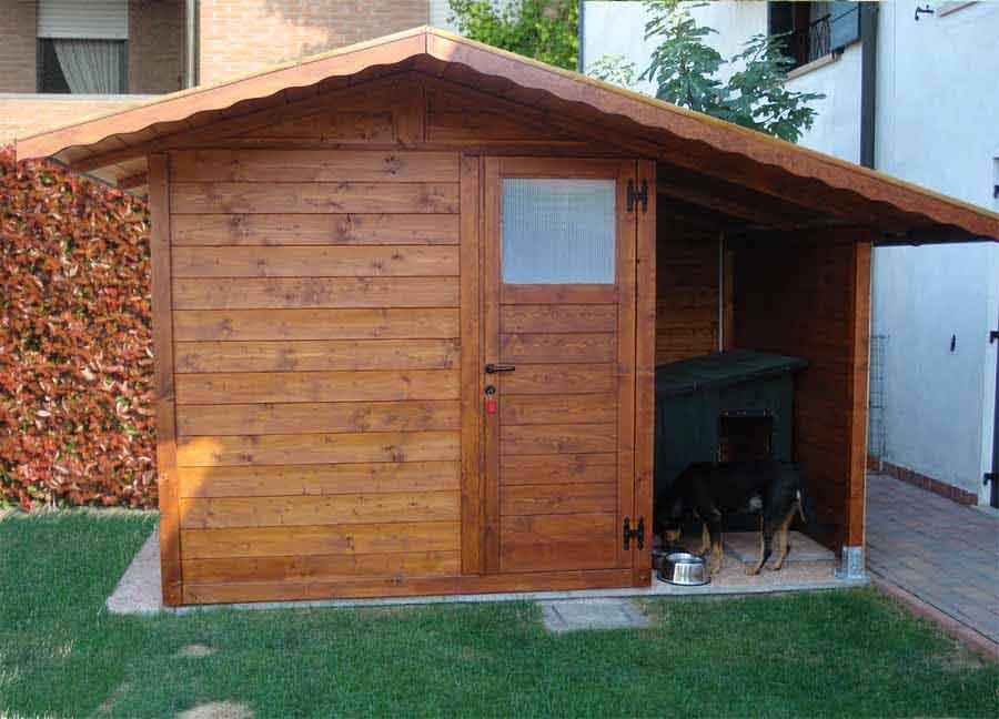 Casetta da giardino con tettoia laterale da 1.50