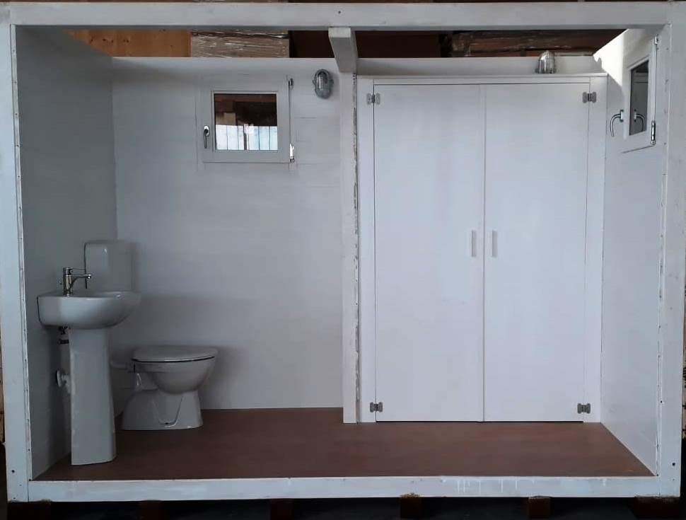 bagno modulare prefabbricato in legno trasportabile 2019