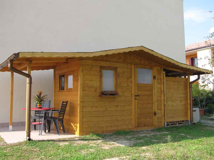 Casetta da giardino 3x2 con doppia tettoia