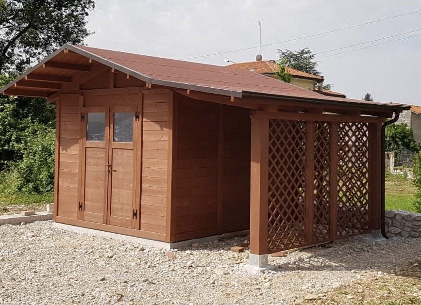 casetta da giardino 3x3 con veranda 2019