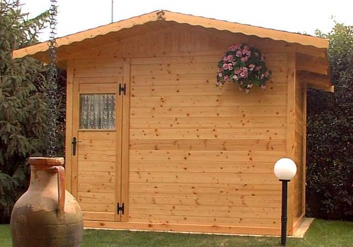 Casetta da giardino in legno mt.3x3