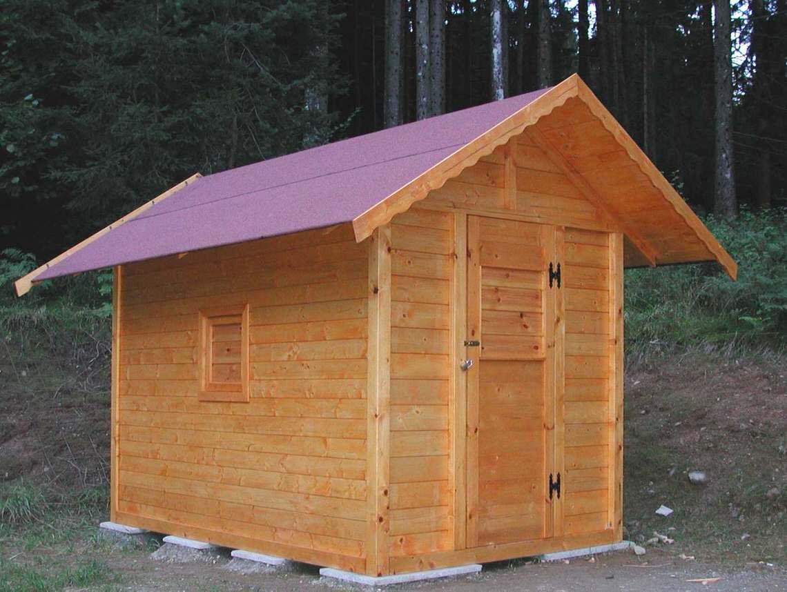 Casetta in legno 2x3 modello per la montagna
