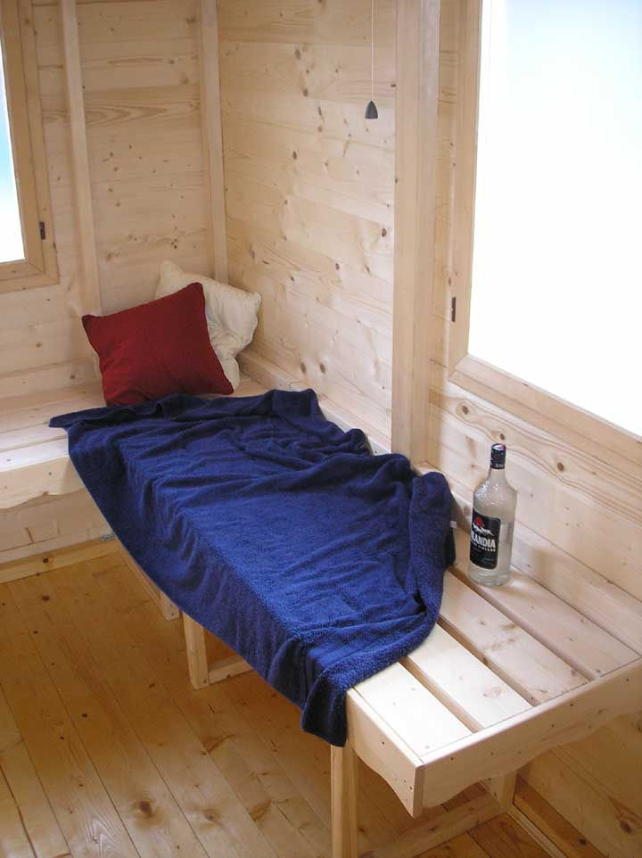 panche relax in legno