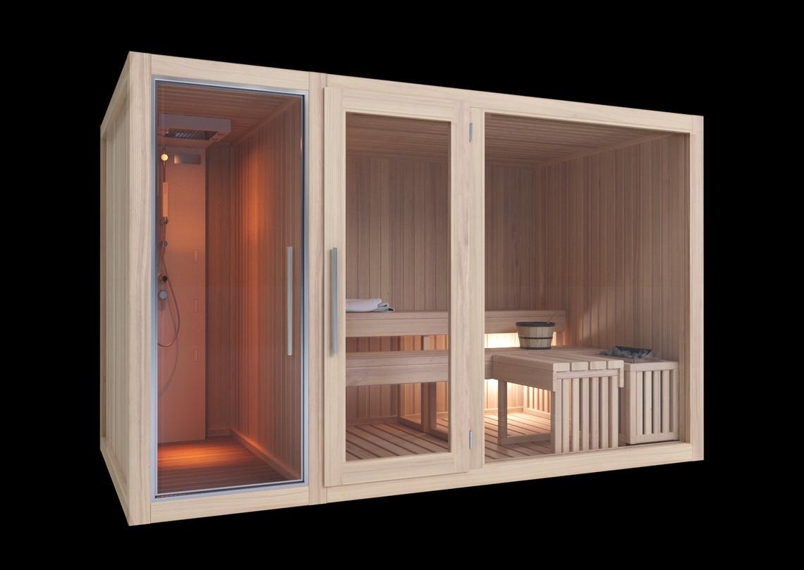 Bagno Esterno In Giardino modelli sauna finlandese e sauna con bagno turco hammam in