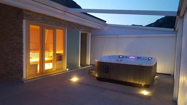 sauna da esterno con vasca 2017 fontana