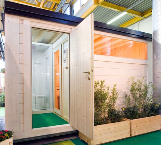 Casetta da giardino con bagno turco, sauna e doccia - Edil Legno